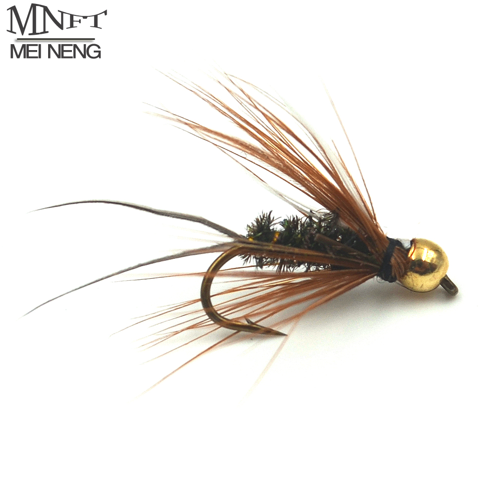 MNFT 10PCS 10# Brass Golden head Trout Grayling Fishing Flies Wet Fly Bead Head Prince Nymph 12pcs 14 red tail bead head buzzer nymph fly for trout fishing lures