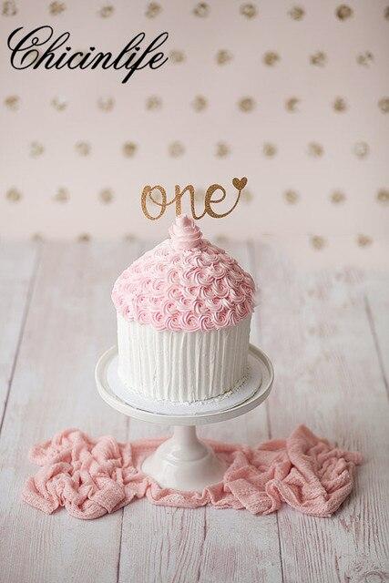 Chicinlife 5 Stucke Glitter Ersten Geburtstag Ein Kuchen Cupcake