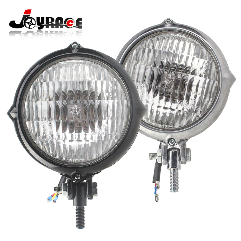 475 Motorcycle Chrome Vintage Headlight For Harley Bobber Xs650 Bmw E39 Angel Corner Signal Socketwiring Connectorbulb Cafe Racer Custom