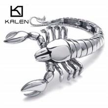 Kalen New Unique 316L Stainless Steel Animal Scorpions Heavy Men's Bracelets Punk Hand Chain Bracelets Best Gift For Boyfriend