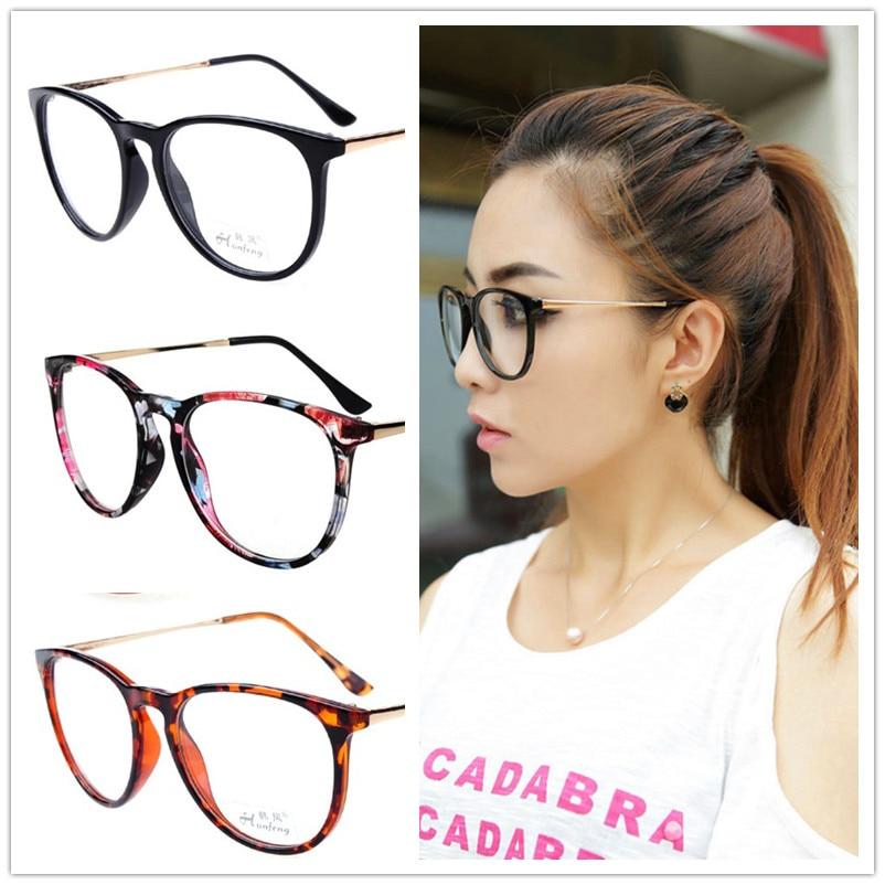 Nuevos marcos de los vidrios mujeres adorno escritura marco gafas ...