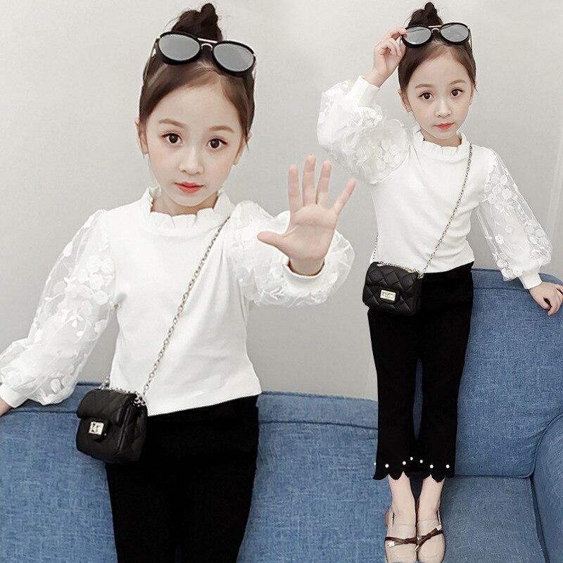 White Blouse For Girls Winter Teenage Clothes 2018 New Fashion Long Sleeve Plus Velvet Warm Shirts