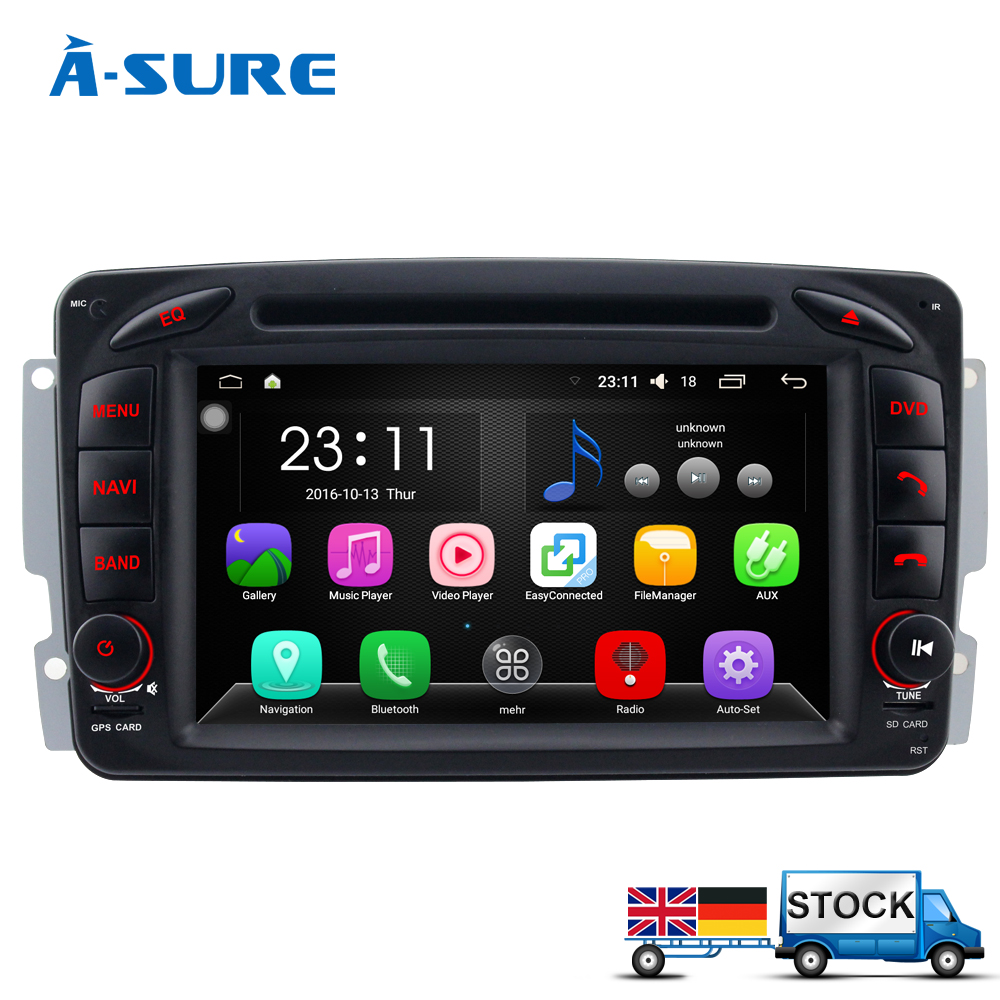 a sure dab android 6 0 car dvd gps navi for mercedes benz. Black Bedroom Furniture Sets. Home Design Ideas