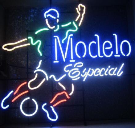 Modelo Especial Soccer Neon Light Sign Beer Bar
