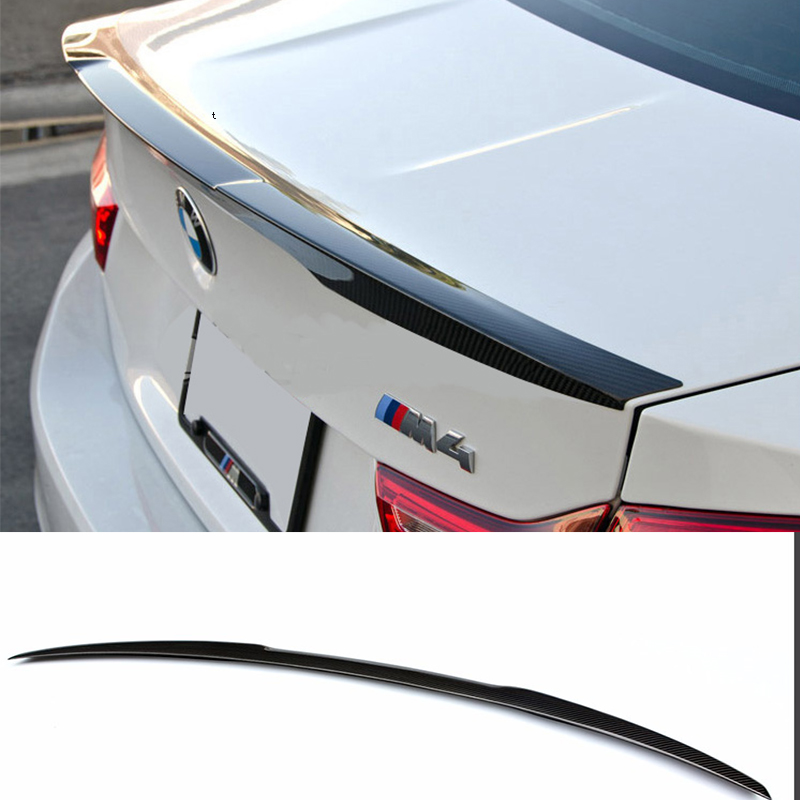 E90 M4 Style Carbon Fiber Rear Trunk lip Spoiler Wing For BMW E90 2005-2012 car styling carbon fiber auto rear wing spoiler lip for vw scirocco 2010 2012