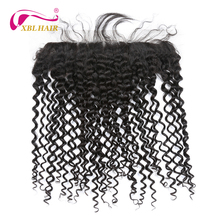 XBL HAIR Curly Weave Lace Frontal Closure With Baby Hair Peruvian Remy Hair 13 4 Free