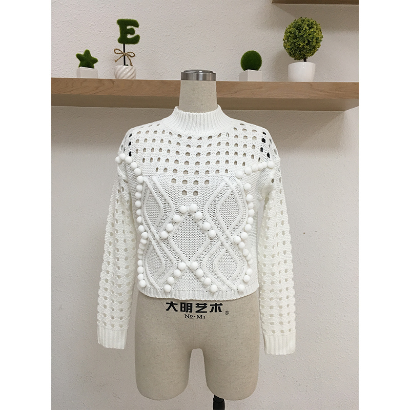 Knit Sweater Women White Sweaters Ladies Hollow Out Back Women Sweaters And Pullovers Black Sweaters Women Winter 2019 Autumn in Pullovers from Women 39 s Clothing