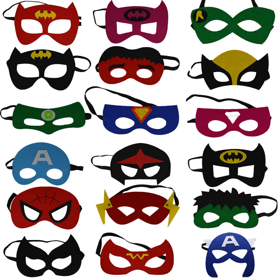 2017 Kids Superhero <font><b>Mask</b></font> Cosplay Party <font><b>Mask</b></font> Ironman Star Wars Hulk Superman <font><b>Spiderman</b></font> Batman Halloween <font><b>Mask</b></font>