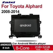 "ZaiXi 8.1"" Android Car Multimedia GPS Audio Radio Stereo For Toyota Alphard 2008~2014 Original Style Navigation NAVI BT"