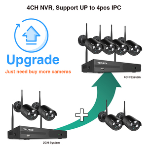 Image 4 - Techege 4CH WIFI CCTV System Wireless NVR Kit 2PCS 1080P HD IP Camera 2MP Outdoor Waterproof Home Security Surveillance System