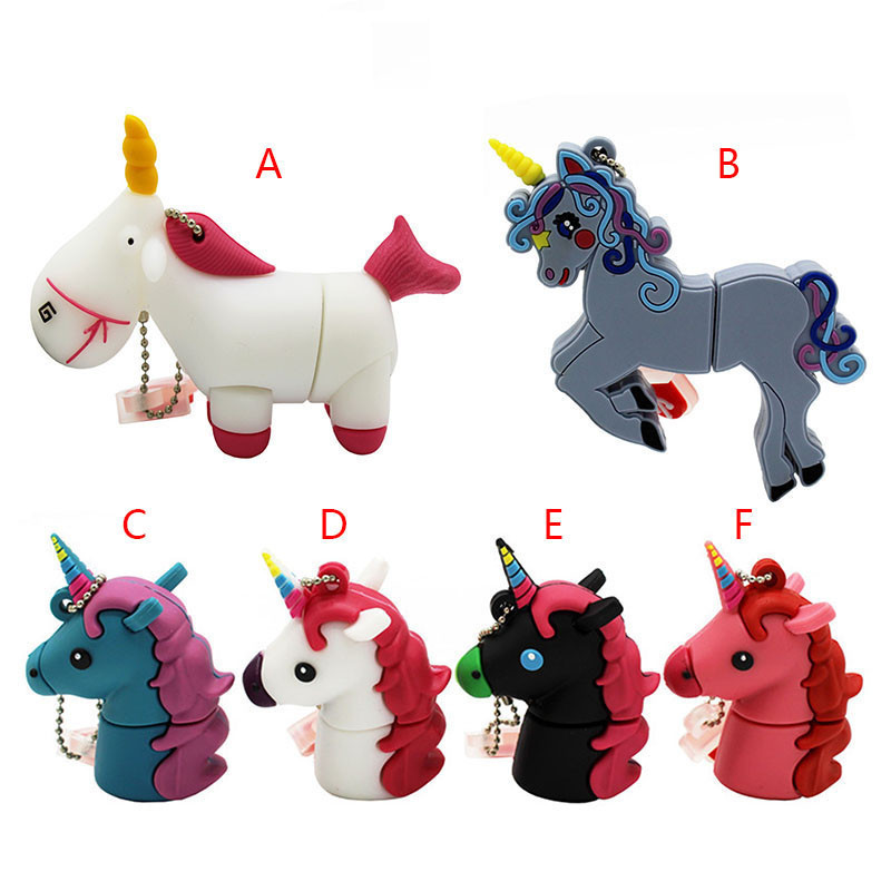 TEXT ME Cute Cartoon Animal Unicorn 6 Style Pendrive 4GB 8GB 16GB 32GB  Stick USB Flash Drive