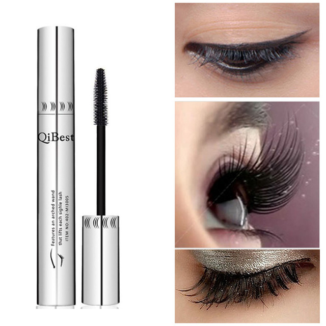 b0415c07556 QiBest Waterproof Non-Smudge Silicone Brush 3d Colossal Black Mascara Fibre  Eye