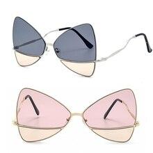 2018 óculos de Sol da moda senhora S9021 cor duplo óculos de sol new marine  filme tela grande vermelho mesmo borboleta óculos de. 48a819cb2a