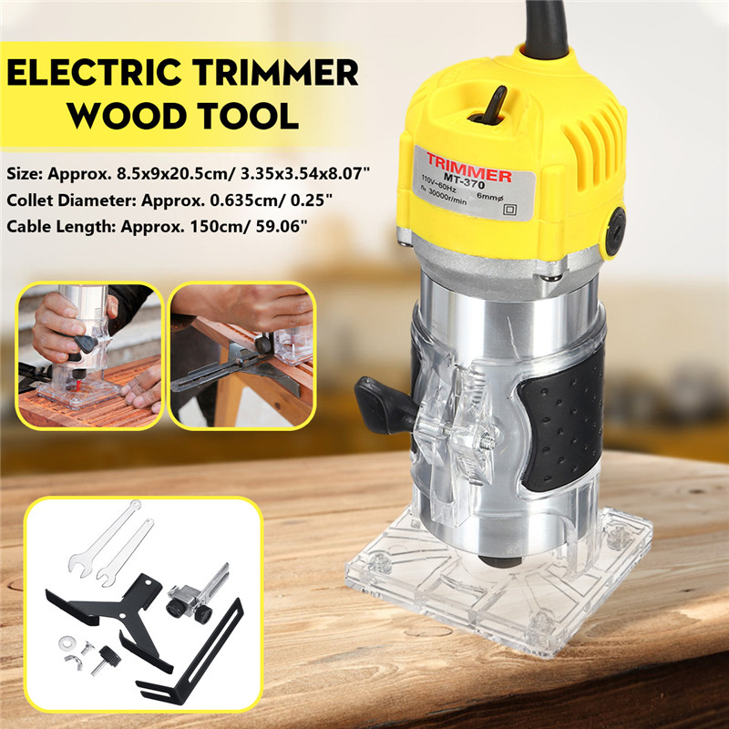 110V 220V 1800W Electric Hand Trimmer 6 35mm Hand Wood Router Trimming Cutting Carving Machine Woodworking