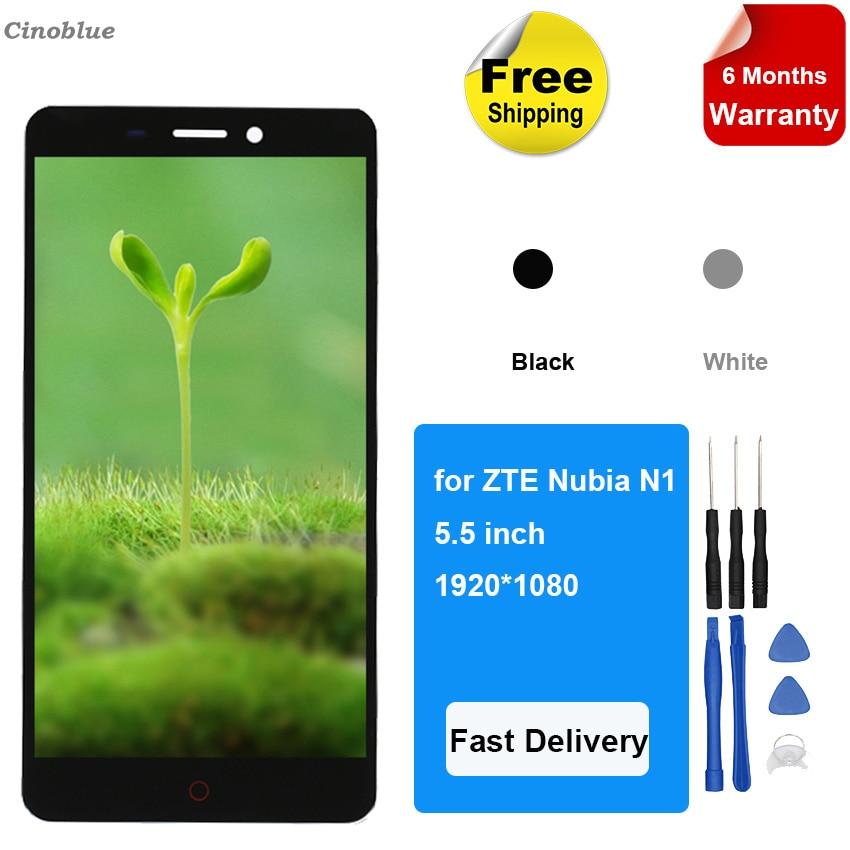 Peças de telefone para ZTE Nubia N1 NX541J LCD Screen Display Toque Assembléia Qualidade Original Do Telefone Móvel LCD Ferramentas Gratuitas