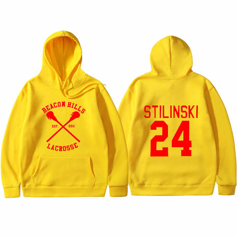 אופנה משואה גבעות נים גברים נשים וולף מאוורר Stilinski 24 Trucksuit יוניסקס הסווטשרט ספורט היפ הופ בגדי חולצות חולצות