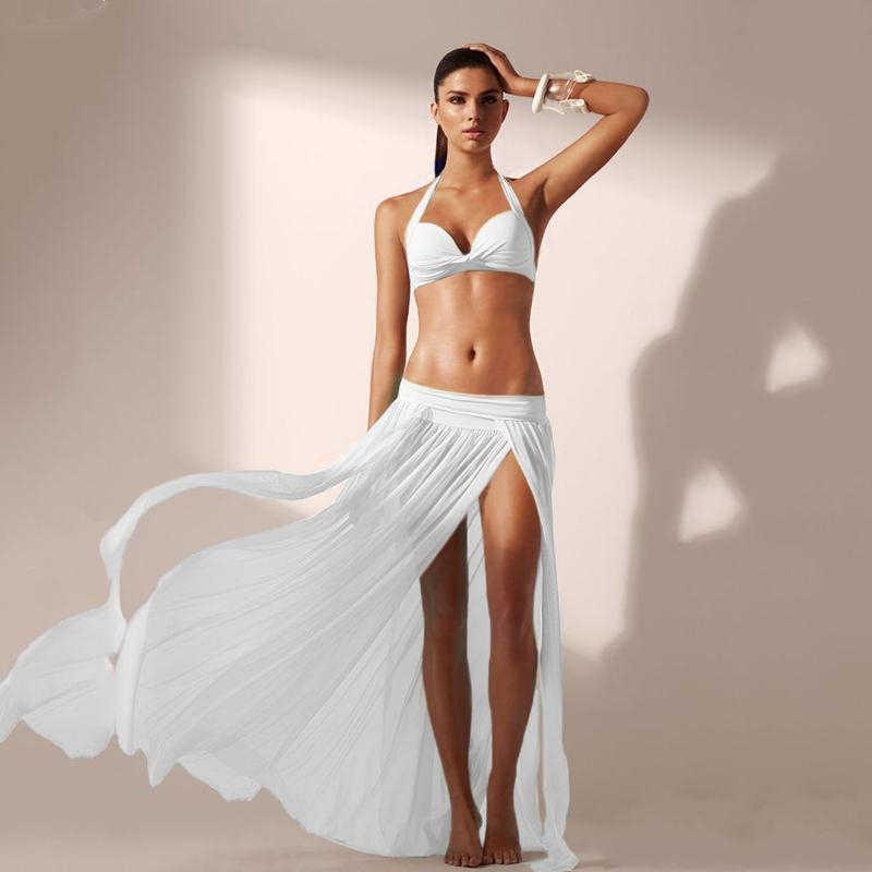 bd228b3f22b New Fashion Sexy Ladies Chiffon Bikini Skirts Swimsuit Sheer Beach Boho  Maxi Skirt Veil Sarong Long