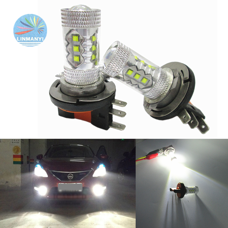 2pcs High Power Super CANBUS <font><b>No</b></font> <font><b>error</b></font> free <font><b>H15</b></font> 16LED Fog Lamps Driving lights 6000K White 12V Car <font><b>Led</b></font> Daytime running lights image