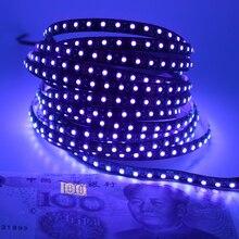 12V Ultraviolet UV LED Blacklight Waterproof non/IP65 Night Fishing 395nm 120leds/m 60leds/m 3528 SMD black PCB LED Strip Light