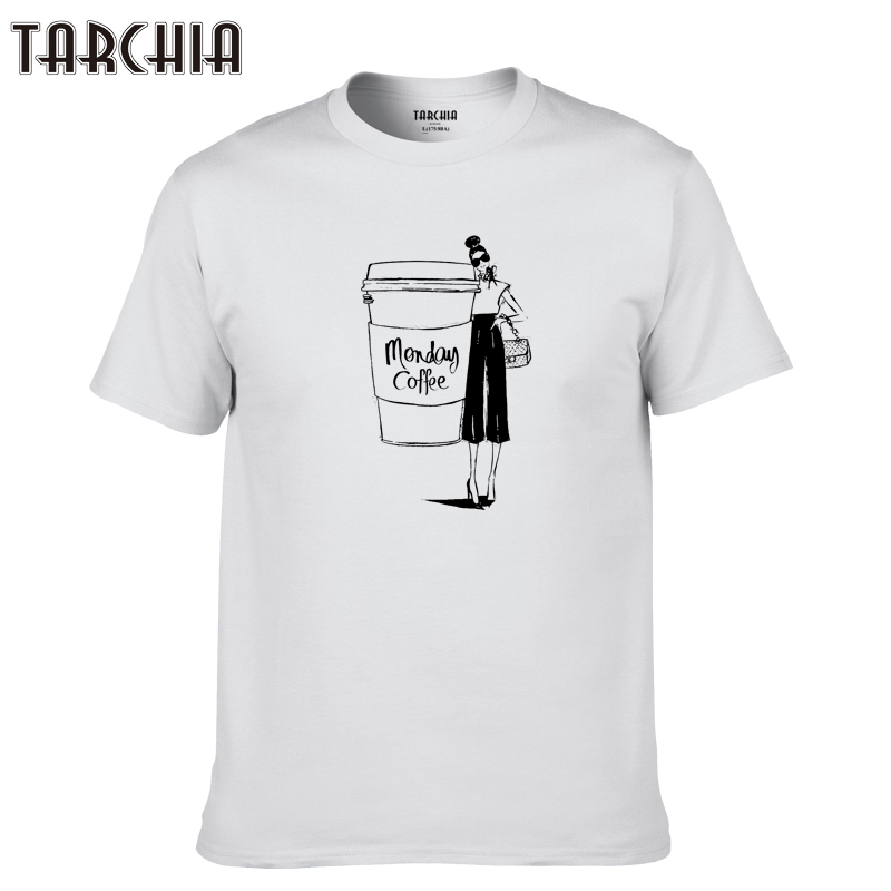 TARCHIA 2019 new fashion summer brand t-shirt cotton tops tees men short sleeve boy monday coffeecasual homme tshirt t plus