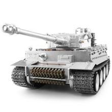 Henglong 1/16 Модернизированный металлический немецкий танк Tiger I RTR rc 3818 Pro модель TH05247