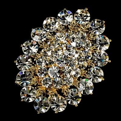 """3,7"""" большая бриллиантовая брошь, прозрачные стразы, винтажные вечерние булавки для букета - Окраска металла: Style I"""