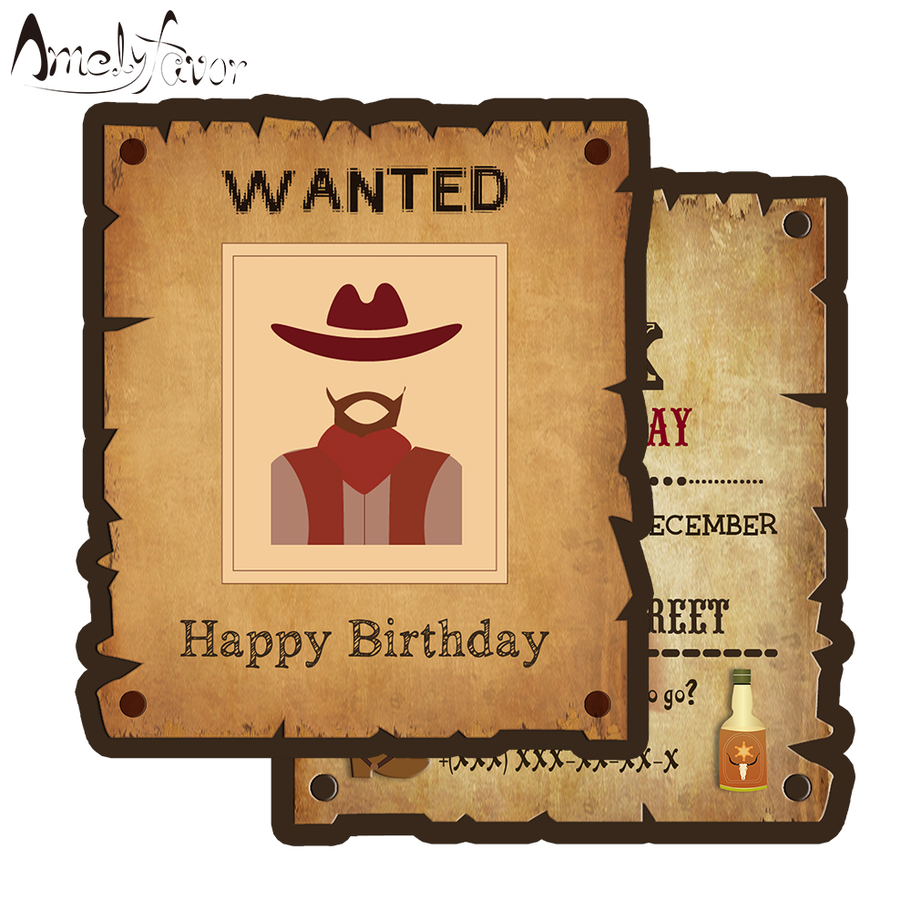 Cowboy Theme Invitation Card Party