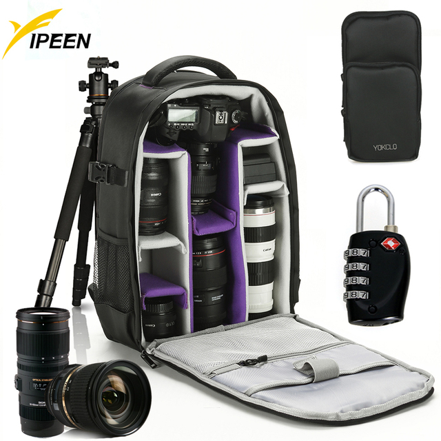 YOKCLQ Y3 Waterproof Camera Bag Camera Case for Canon Nikon Adjustable  Cameras Bag Backpack For Traveling 6a312cefbbf94