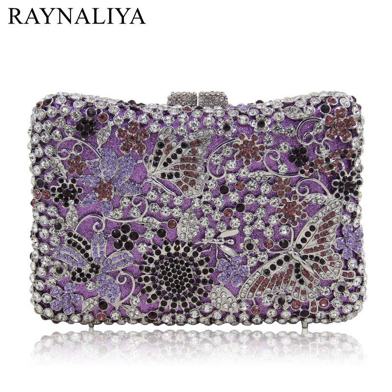 2017 Time-limited New Minaudiere Hand Bag Diamonds Flowers Women Fashion Landscape Hasp Evening Bags Handbag Smyzh-e0285