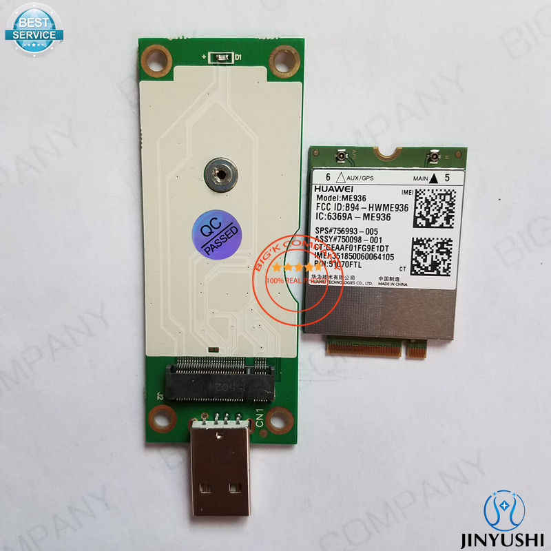 JINYUSHI For ME936+M.2 To USB Transfer card for CUBE i9 DELL venue 11 pro NEW&Original FDD LTE 4G WCDMA  GSM  M.2 Module telit ln930 dw5810e m 2 twh3n ngff 4g lte dc hspa wwan wireless network card for venue 11