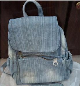 Image 2 - حقيبة ظهر من قماش الدنيم المغسول عتيق بجودة عالية لعام 2020 حقيبة سفر متعددة الوظائف للبنات حقائب مدرسية 6 حقائب مدرسية