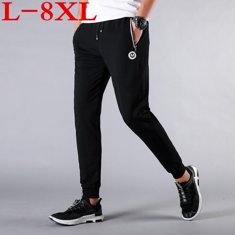 2018 NEW Men plus size 10xl 9xl trousers with XL close shut fat oversize feet 6 feet pants pants men mens black 7XL 8XL