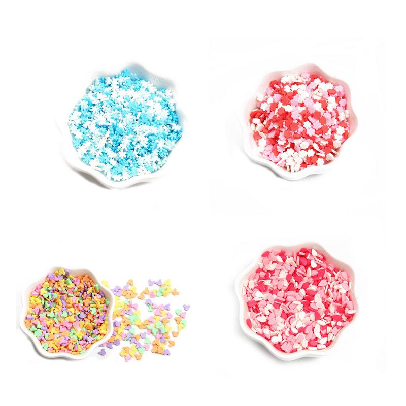 065c9439f1a28 100g Christmas Tree Decor Candy colored Mickey Soft Clay Granules ...