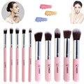 VANDER Pro Cosméticos 10 Pcs compo o Jogo Da Escova Blush Em Pó Foundation Kit de Higiene da Mulher make-up escovas kabuki ferramenta de Prata Rosa