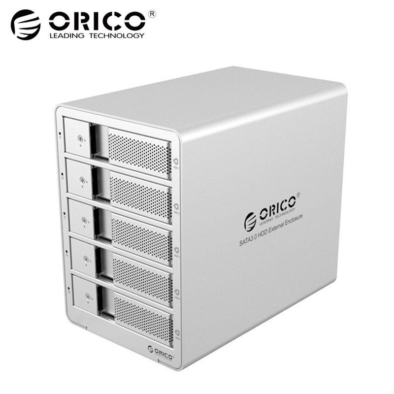 ORICO 9558U3 5-Bay 3.5 USB3.0 SATA Externe Box Boîtier HDD Station D'accueil pour Disque Dur Portable PC (ruban)