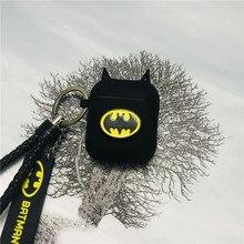 Heißer Batman The Dark Knight Kopfhörer Cases Für Apple Airpods Drahtlose Bluetooth Headset Silikon Abdeckung Für Air schoten 2 Zubehör