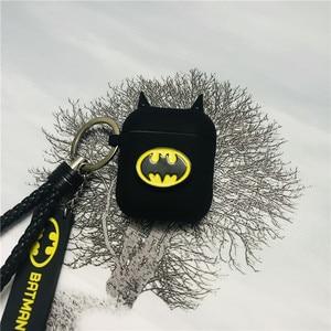 Image 1 - Hot Batman The Dark Knight Auricolare Custodie Per Apple Airpods Auricolare Senza Fili di Bluetooth Della Copertura Del Silicone Per Laria baccelli 2 Accessori