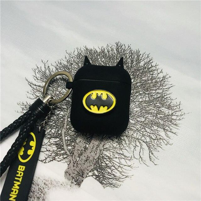 Hot Batman The Dark Knight Auricolare Custodie Per Apple Airpods Auricolare Senza Fili di Bluetooth Della Copertura Del Silicone Per Laria baccelli 2 Accessori