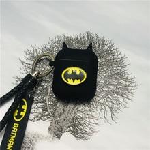 Nóng Batman Hiệp Sĩ Bóng Đêm Tai Nghe Chụp Tai Trường Hợp Rung Không Dây Tai Nghe Bluetooth Dẻo Silicone Dành Cho Không Khí Quả 2 Phụ Kiện