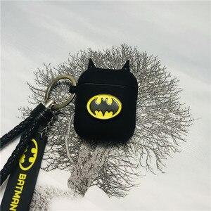 Image 1 - Nóng Batman Hiệp Sĩ Bóng Đêm Tai Nghe Chụp Tai Trường Hợp Rung Không Dây Tai Nghe Bluetooth Dẻo Silicone Dành Cho Không Khí Quả 2 Phụ Kiện