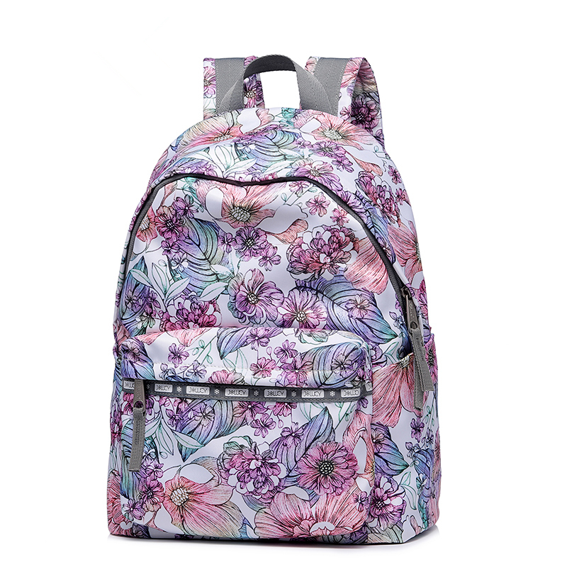 Women Nylon Print Waterproof Campus Backpack For Teenage Girls Student Collegiate Back to School Travel PINK Backpack Laptop Bag high quality women nylon waterproof campus backpack for teenage girls student collegiate school travel pink backpack laptop bag