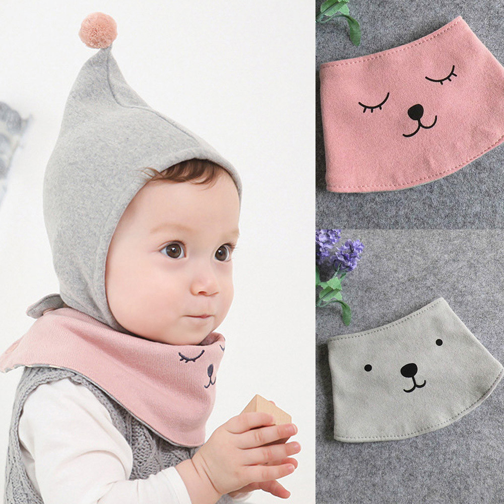 CHAMSGEND Fashion two style Cartoon Printing cashmere warm Boy Girl Kid Toddler Bandana Baby Bibs Saliva Towel Bibs Q30 AUG30