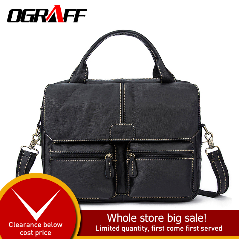 OGRAFF  Men Bags Handbag Genuine Leather Briefcases Shoulder Bags Laptop Tote bag Crossbody Messenger Bags Handbags designerOGRAFF  Men Bags Handbag Genuine Leather Briefcases Shoulder Bags Laptop Tote bag Crossbody Messenger Bags Handbags designer