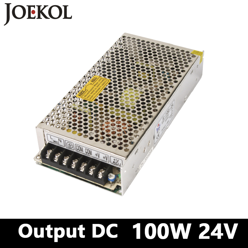switching power supply 100W 24v 4A Single Output ac-dc smps power supply for Led Strip,AC110V/220V to DC 24V converter 350w 60v 5 8a single output switching power supply ac to dc for cnc led strip
