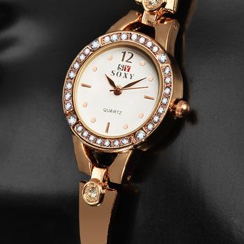 Gorąca sprzedaż nowa moda luksusowe zegarki damskie Rhinestone zegarek kobiety panie Casual złoty zegarek kwarcowy zegar reloj mujer dla drop shipping tanie i dobre opinie QUARTZ 12mm ROUND bez wodoodporności Szkło NONE Papier 26mm 20 5cm Brak Luxury ru Luxury Women Paris Watch STAINLESS STEEL