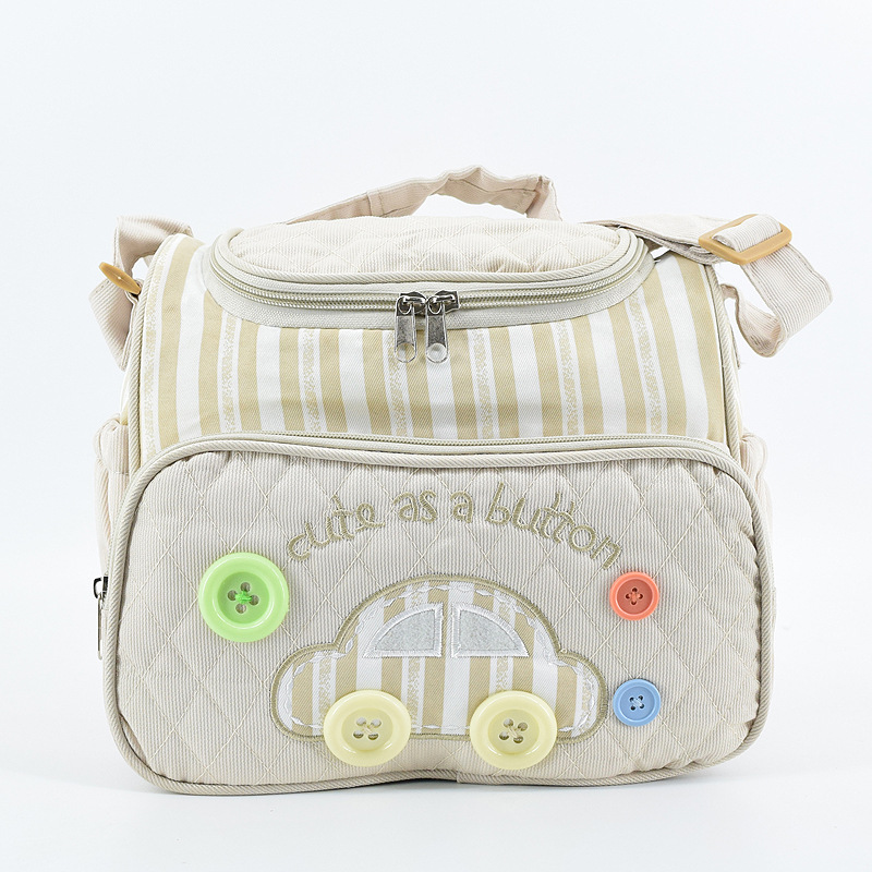 2018 New Lovely Car Pattern Baby Bag For Nappy Durable Mommy Diaper Bag With Fastener Decor Portable Women Maternity Hand Wash