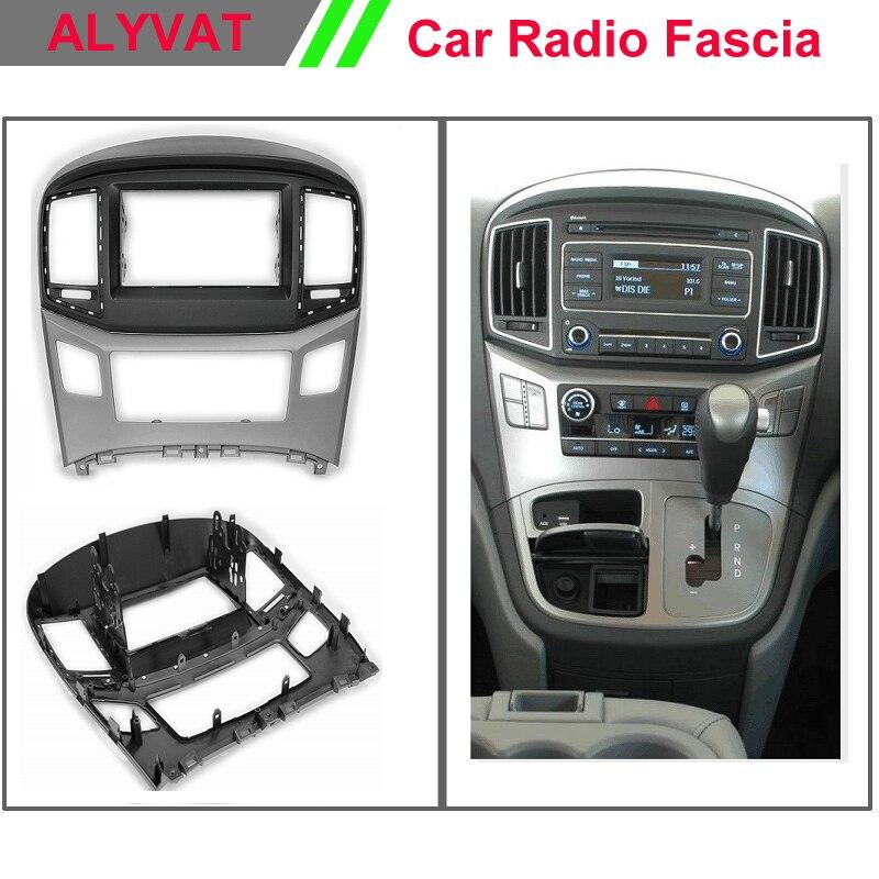 Автомобиль Радио DVD Панель для Hyundai h 1 starex i800 Iload IMAX (черный и серебро) стерео Фризовая тире CD Обрезать Установка комплект 2015 2016