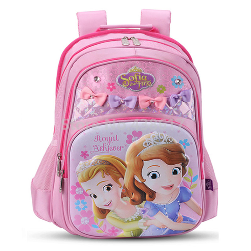 Pink 3D Sofia the First Princess Sofia and Amber Backpack School Bags for Kids  Girls Children Elementary Primary School Book Bag 6c97dd0395ca2
