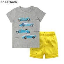 SAILEROAD велосипедные гонки автомобиль детская летняя одежда Хлопок детские спортивные костюмы маленьких детей 6 Годы детская одежда костюмы
