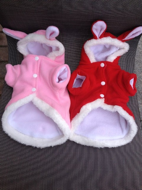 Cute Bunny Style Hooded Suit for Cats